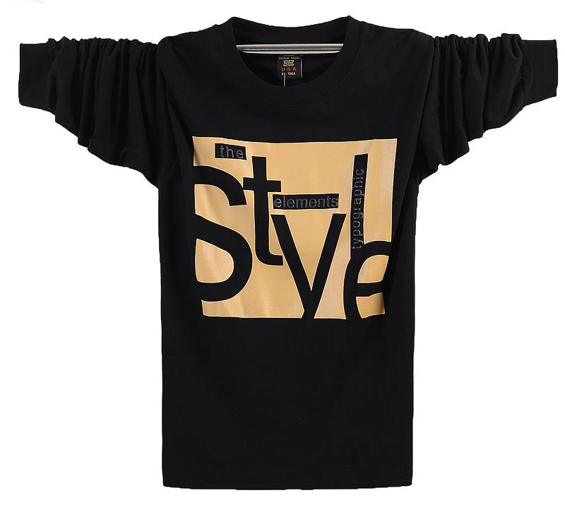Новые 7XL Кинг жира Мужская с длинным рукавом t рубашка печати Юг плюс удобрения XL Мужская осень/зима пальто осень одежды