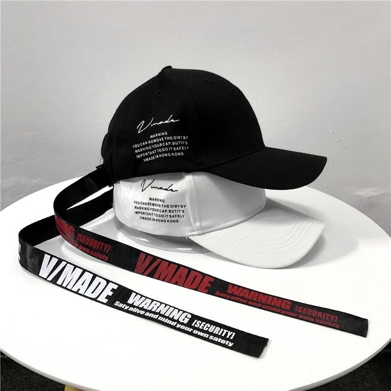 帽子女夏天韓版街頭英文字母長帶子棒球帽時尚嘻哈鴨舌帽遮陽帽男