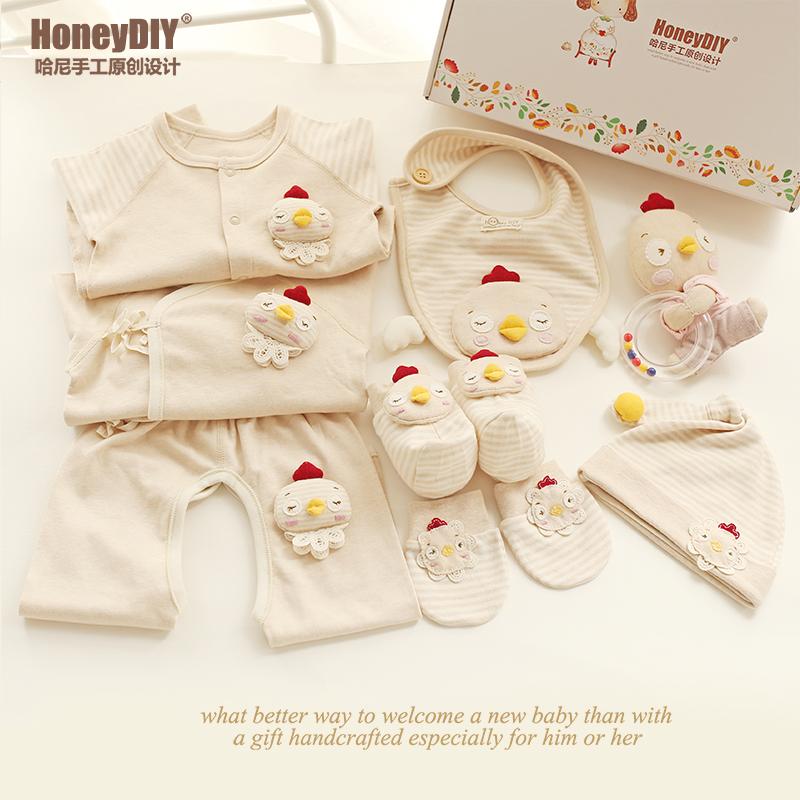 哈尼 雞寶寶衣服純棉寶寶套裝新生兒 大禮包 diy材料包