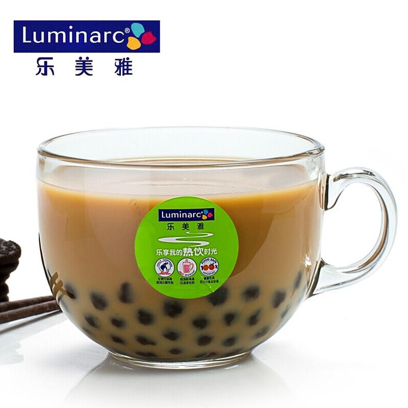 家用玻璃杯微波炉大号热牛奶杯麦片燕麦杯早餐杯酸奶杯杯子麦片碗