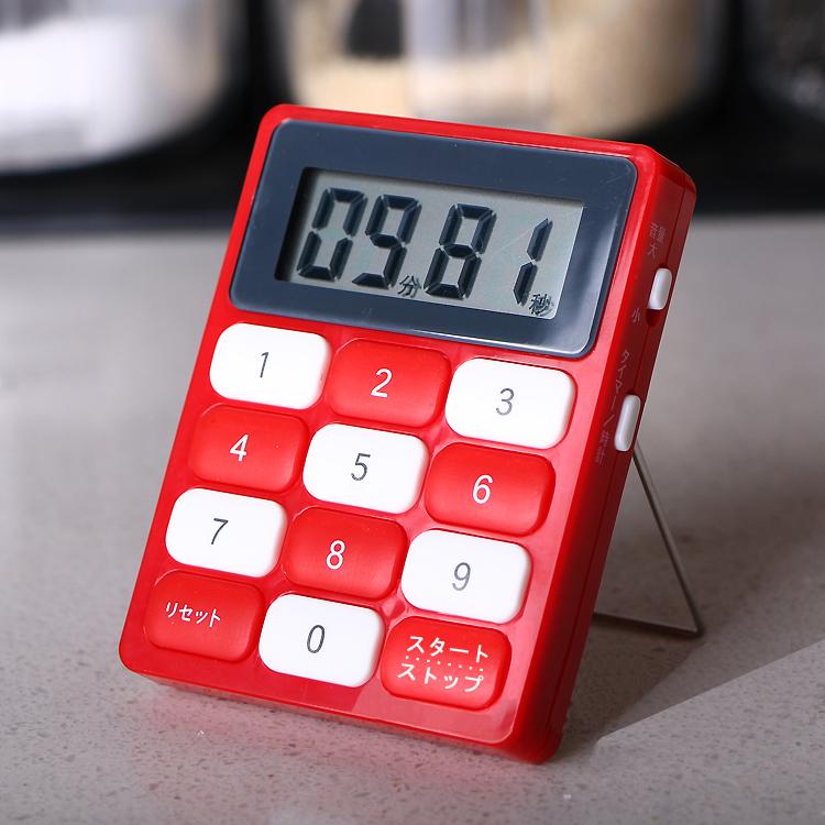 LEC厨房定时器提醒器电子计时器磁铁大屏幕倒计时器烹饪秒表闹钟,可领取3元天猫优惠券