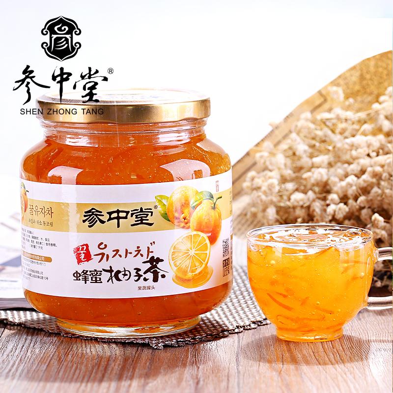 參中堂蜂蜜柚子茶韓國風味果蔬衝飲水果茶1000g