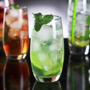 酒吧调酒师玻璃鸡尾酒杯mojito鸡尾酒杯莫吉托长饮柯林杯果汁杯