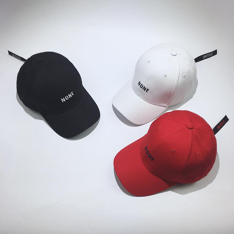 限9000张券韩国原宿字母刺绣子女夏休闲棒球帽