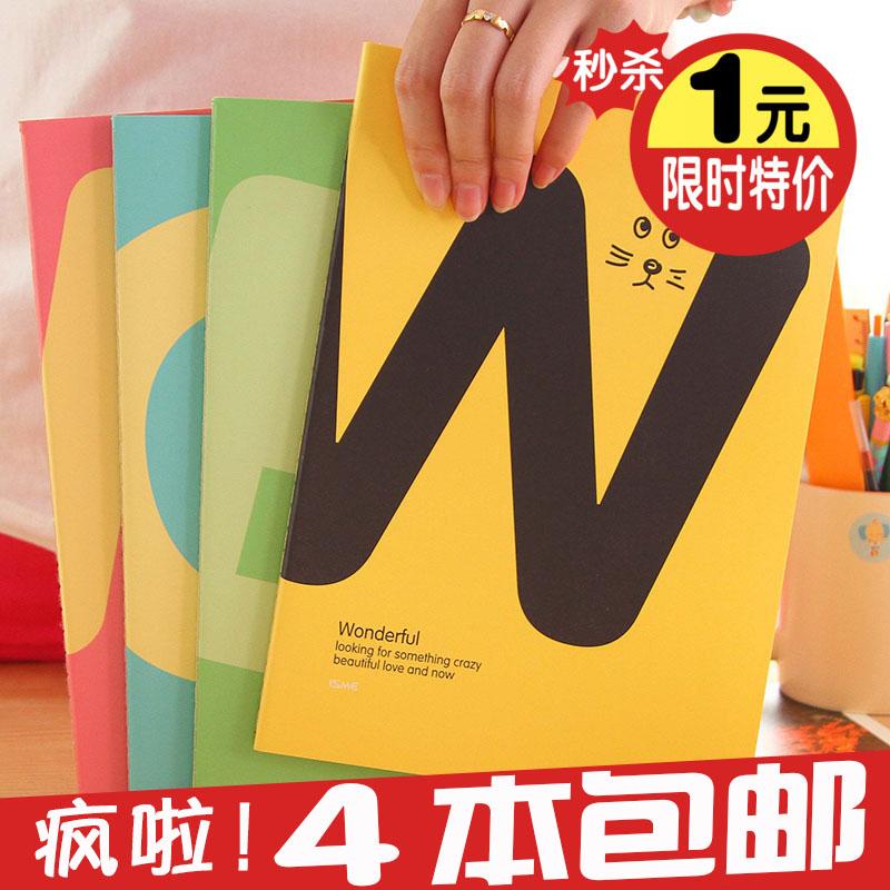 4 mail корея канцтовары свежий милый B5 большой размер ноутбук / дневник это /16K запомнить вещь книга