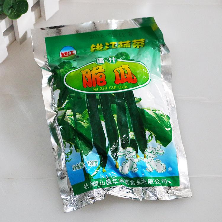 满68包包邮 钱江蜜汁脆瓜100g黄瓜酱菜下饭菜 杭州特产 咸菜