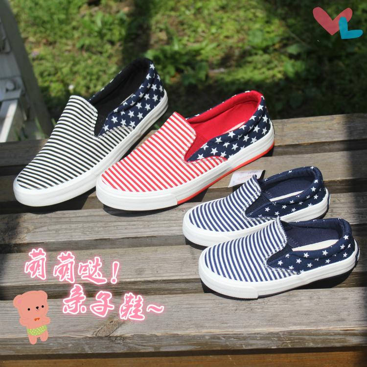 上海回力韩版星星条纹女透气帆布鞋正品保证