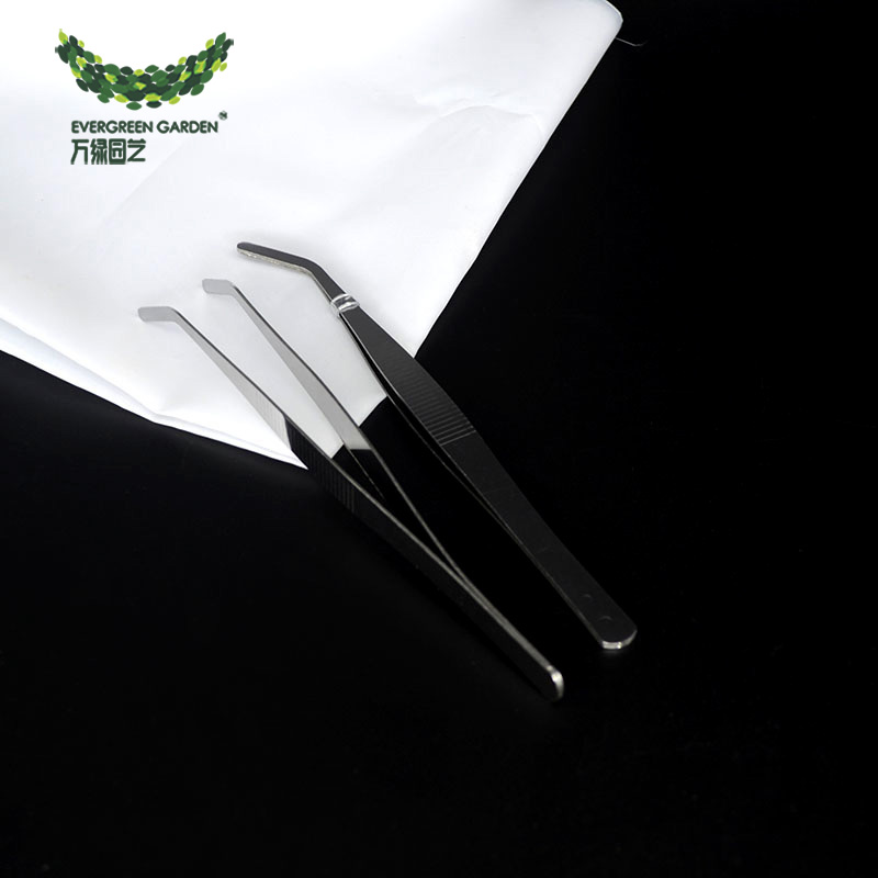 Tweezers elbow succulent planting tools succulent plants potted gardening supplies high quality stainless steel