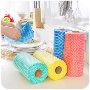 居家家 厨房环保无纺布免洗抹布50片 自由裁剪多用清洁布 洗碗布