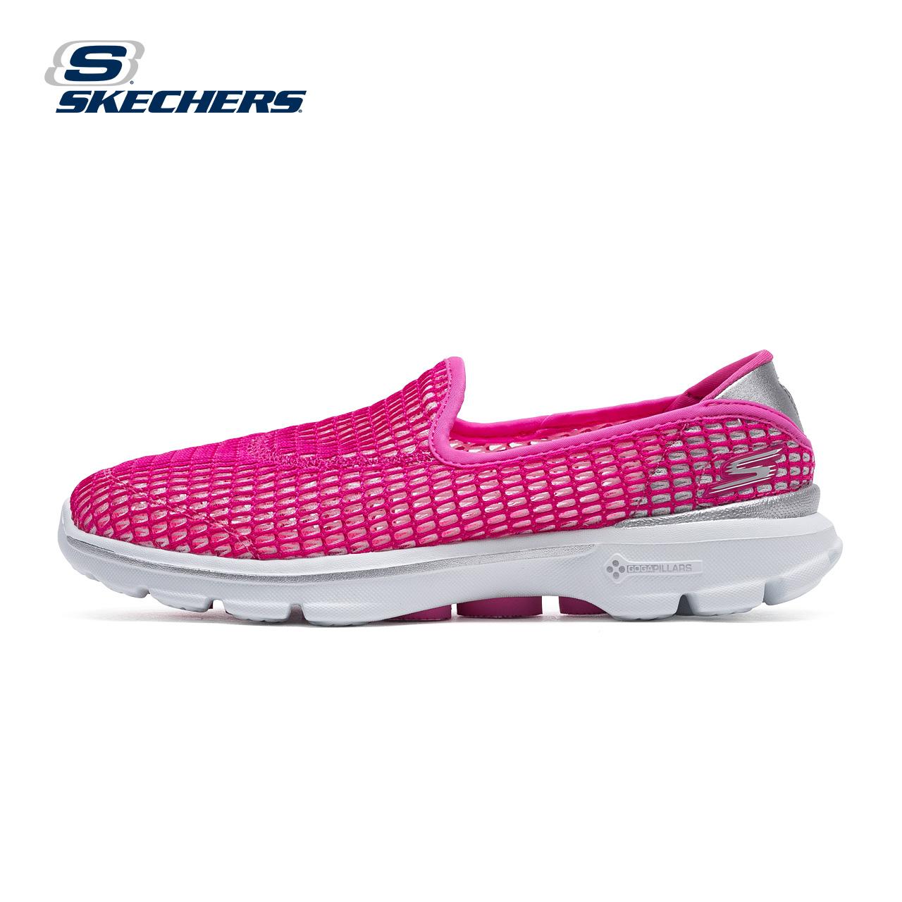 Skechers скай странный GO WALK 3 здоровый шаг спортивной обуви женщина меш пирсинг ножной футляр обувь casual 14054