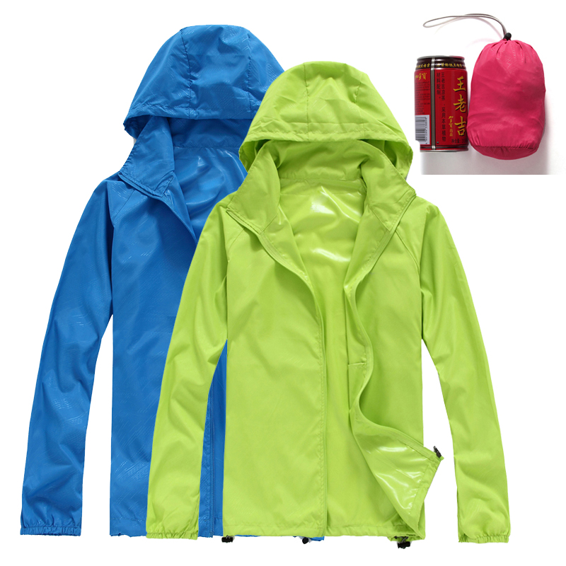 Skin clothing mens and womens thin increase sports windbreaker couples wear sunscreen summer outdoor coat work clothes waterproof