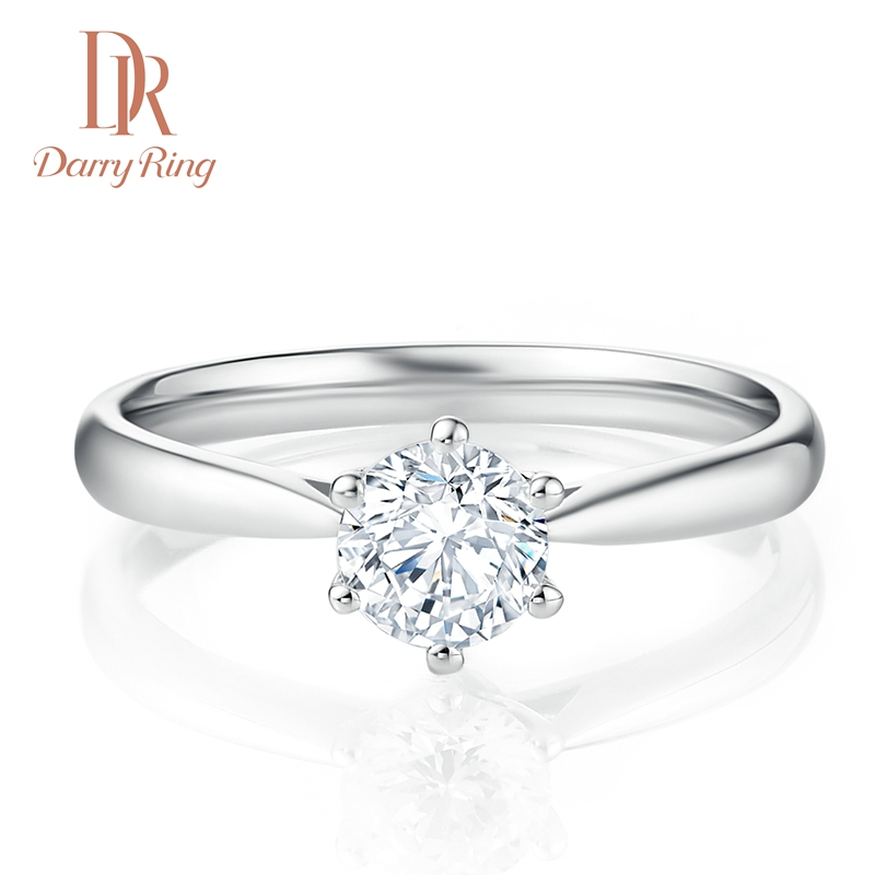 Darry Ring носить швейцарский один карат алмаз кольцо DR качественная продукция из специализированного магазина сделанный на заказ шесть коготей предлагать выйти замуж бриллиантовое кольцо женщина