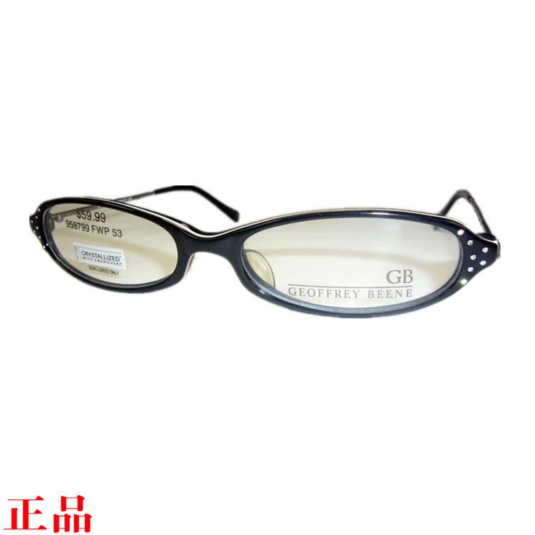 外贸原单正品GEOFFREY BEENE板材全框近视眼镜架女款镜框椭圆超轻