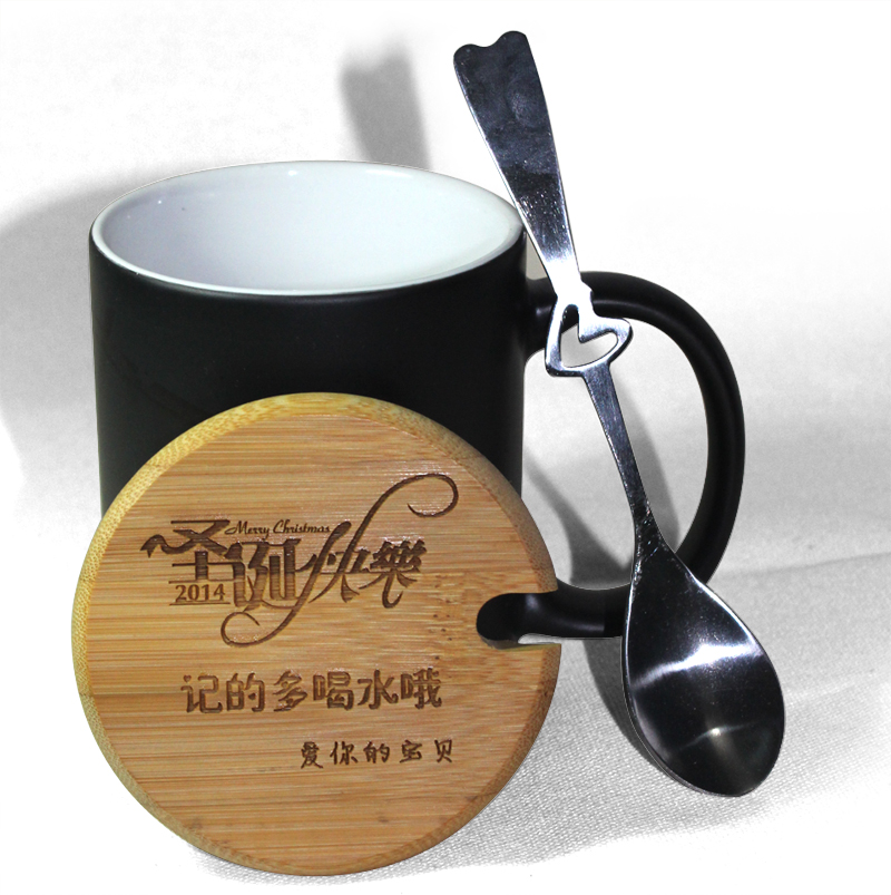 Изменение цвета пользовательского творчества для влюбленной пары Керамическая чашка марки сделана для заказа фото дий чашка теплопередача волшебная чашка бамбука корпус