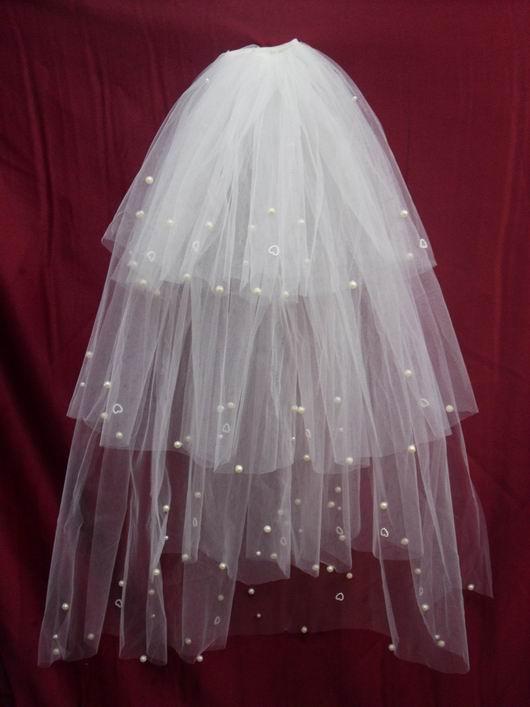 Сучжоу аксессуары Аксессуары свадебное платье вуаль Жемчужная свадьба для новобрачных вуаль 4 слоя многослойных вуаль