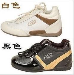 正品真皮高佰魔力秀腿鞋内增高女款牛皮厚底高帮运动跑步休闲板鞋