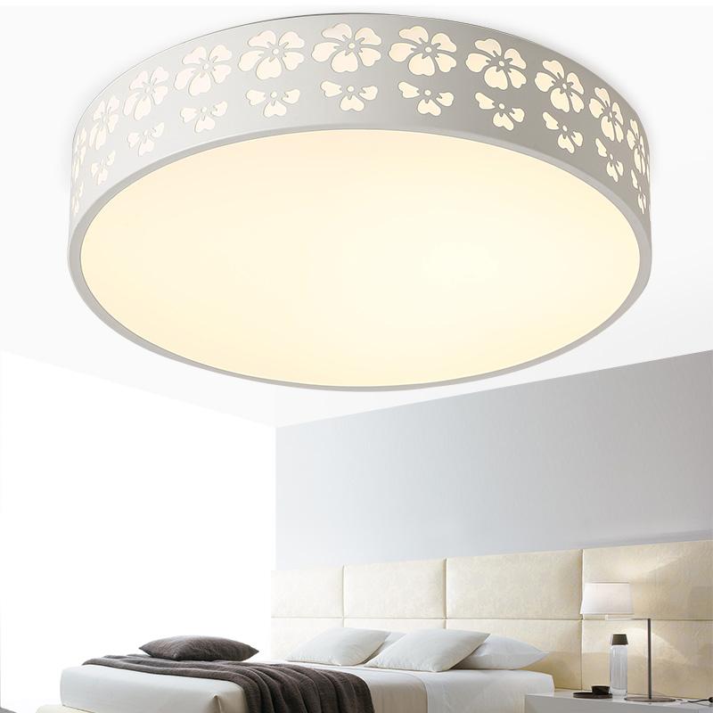 簡約 臥室燈溫馨浪漫書房燈陽台燈遙控圓形LED吸頂燈臥室客廳