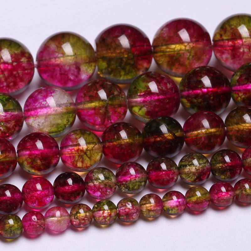 DIY ручной бисером браслеты хрустальные бусины аксессуары выращивания арбузов материала 4-12 мм льда хрустальные бусины