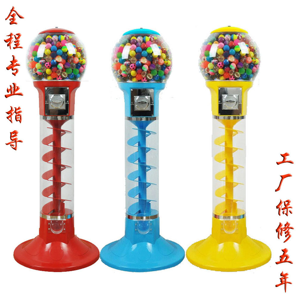 螺旋扭蛋机糖果机扭蛋玩具弹力球机投币鱼食鱼饵自动售卖机
