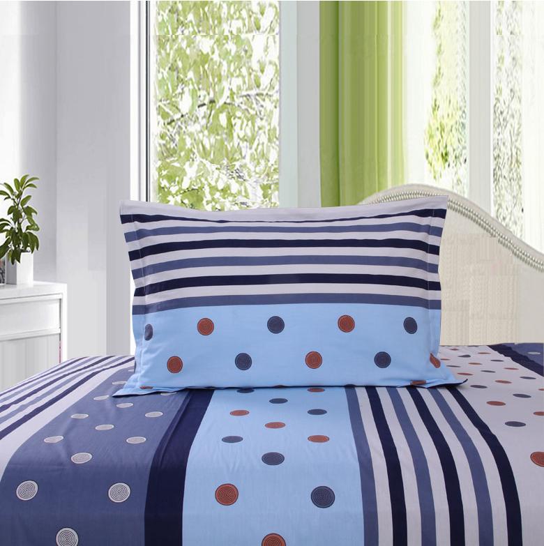 馥家纺 纯棉斜纹印花枕套单人枕头套枕芯套一个买2个包邮纯棉