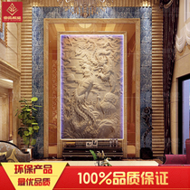 Artificial sandstone painting background wall decoration culture stone Relief Stereo Hotel Large custom sandstone hundred birds Chaofeng map