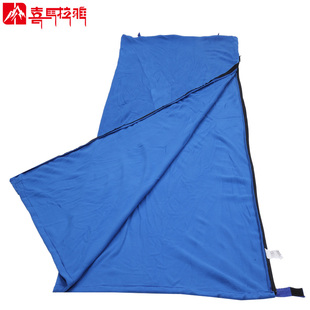 Spring adult sleeping bag liner portable outdoor warm fleece interior envelope hotel dirty sleeping bag compartment Health