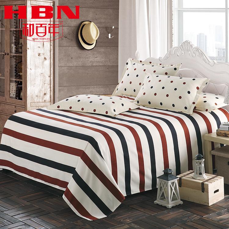 和百年 加厚磨毛床單單件學生宿舍單人被單雙人床罩2.0米1.2