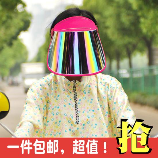 Лето цикл солнцезащитный крем ультрафиолет электромобиль затенение крышка солнце крышка на открытом воздухе крышка мужской и женщины пусто сверху солнцезащитный крем шляпа