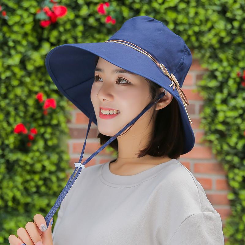 防曬帽帽子子女士夏天防紫外線大簷騎車帽出遊太陽帽遮陽帽漁夫帽