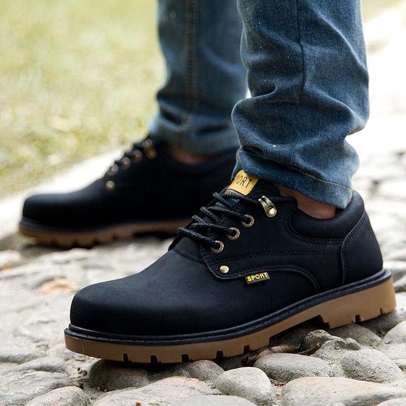 Мужская обувь новые оснастки обувь Туфли мужские Ботинки мужские головы Туфли мужские наружные ботинки Мартин сапоги мужские туфли сапоги мужчин