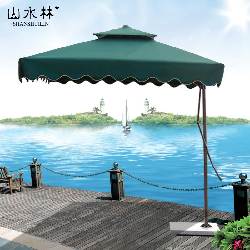 山水林戶外遮陽傘室外庭院傘方形傘香蕉傘折疊沙灘傘羅馬傘太陽傘