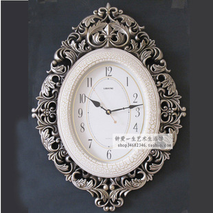 Deluxe continental Creative Arts clocks large living room wall clock simple wall decoration mute quartz pocket watch clock