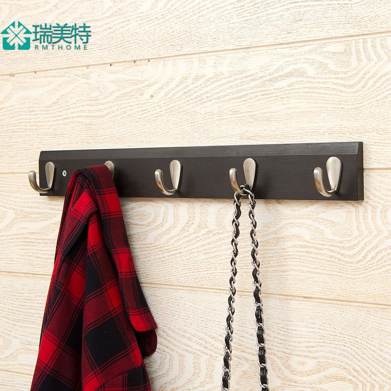 臥室客廳牆上掛衣架壁掛衣帽架玄關 家居掛衣鉤門後實木衣服架