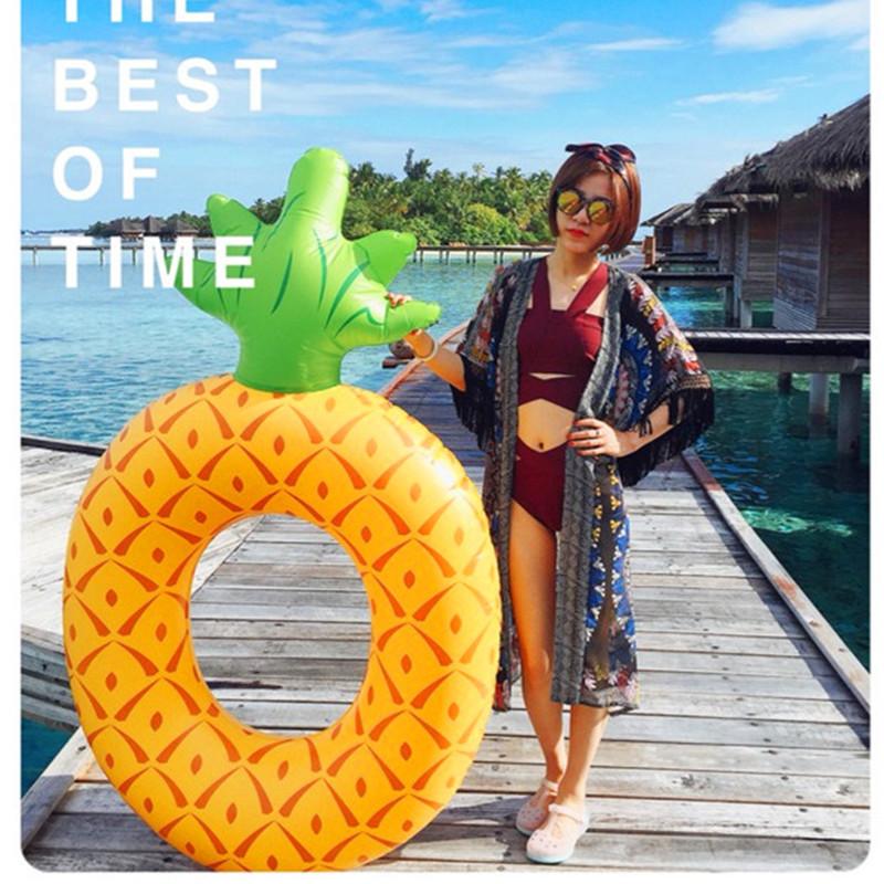 限5000张券ins爆款大号120菠萝成人游泳圈救生圈腋下圈浮圈水上浮床玩具男女