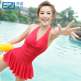 EZI Yi Zi Spa swimsuit small chest gather Slim was thin piece swimsuit skirt type female conservatism 1070 yards