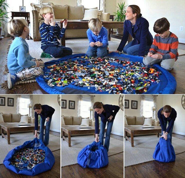 寶寶玩具快速收納袋 玩具墊 Toy storag bags for lego 美國爆款