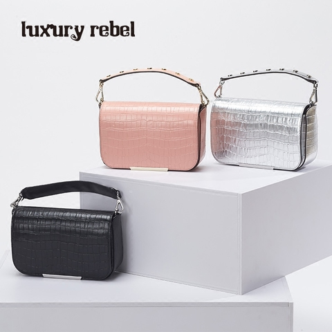 Luxury Rebel2017夏季新款个性百搭时尚女包休闲磁扣小方包手提包