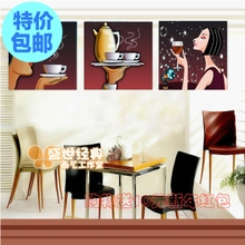 Taste the coffee restaurant kitchen sanlian adornment hang a picture to the hotel bar cafe wall painting murals wu kuang
