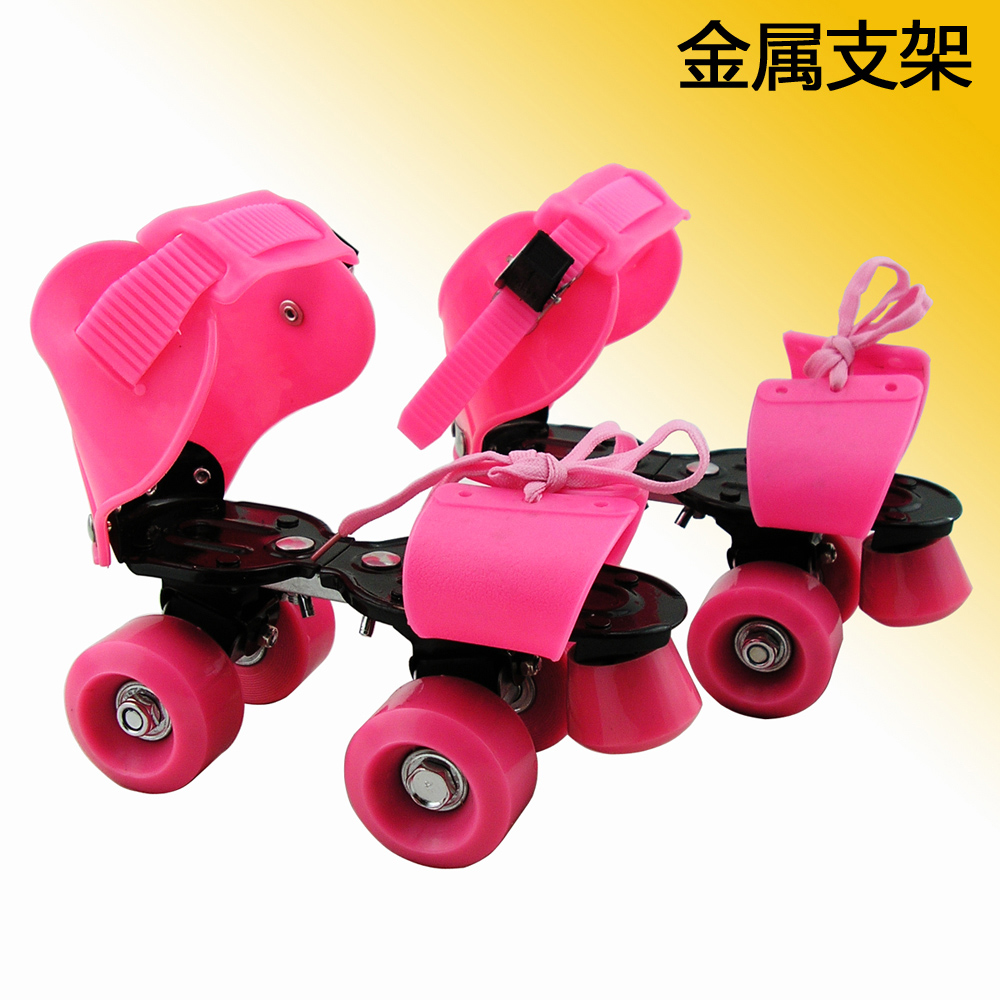 Двойной коньки регулируемый четырехколесный скейтборд засуха коньки ребенок для взрослых катание на коньках обувной засуха коньки металл стоять