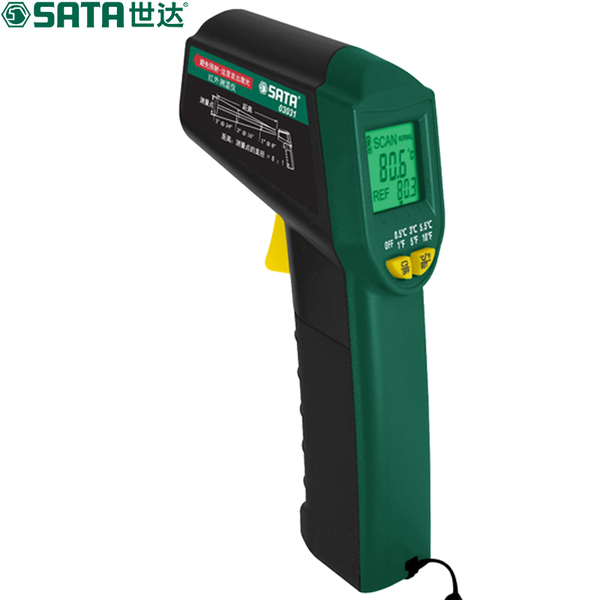 世达SATA红外测温仪 高精度红外线测温枪 工业电子温度计 03031