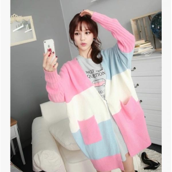 Октябрь мумия материнства рубашка женщин Весна загружена Кардиган в корейской версии свободных женщин зимний свитер пальто