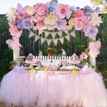 Tutu Yarn Table Skirt table circumference wedding birthday party dessert table Wedding check-in table American yarn layout prop Tablecloth