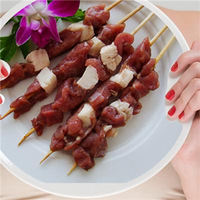 【魔都烤吧】羊肉串/5串 户外烧烤食材配送BBQ野餐烤串肉串半成品