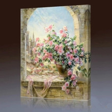 Diy digital painting landscape plants flower adornment anime character big hand painting Europe type window one scene
