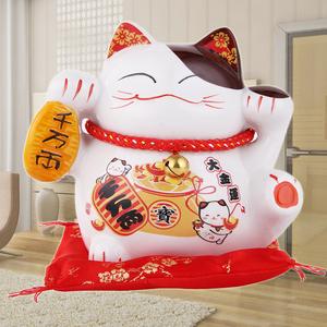 陶瓷发财猫招财猫摆...