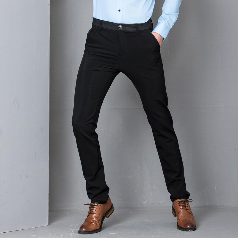 加絨英倫男士直筒長褲子