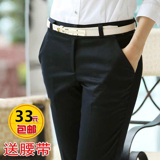 Платье брюки женские брюки костюм брюки тонкие брюки для женщин с связанные ноги прямые брюки профессиональные инструменты брюки весной весна, лето,