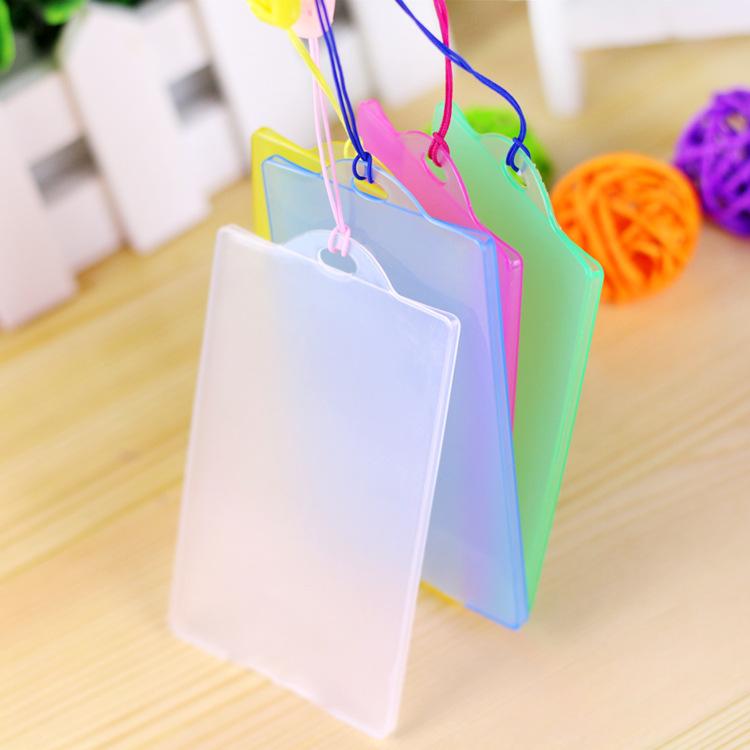 韩国彩色透明硬质塑料公交卡套银行卡套ID身份保护防磁