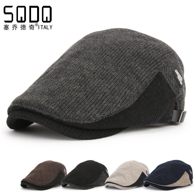 塞喬德奇  青年針織英倫貝雷帽 男士鴨舌帽 前進鴨嘴帽子