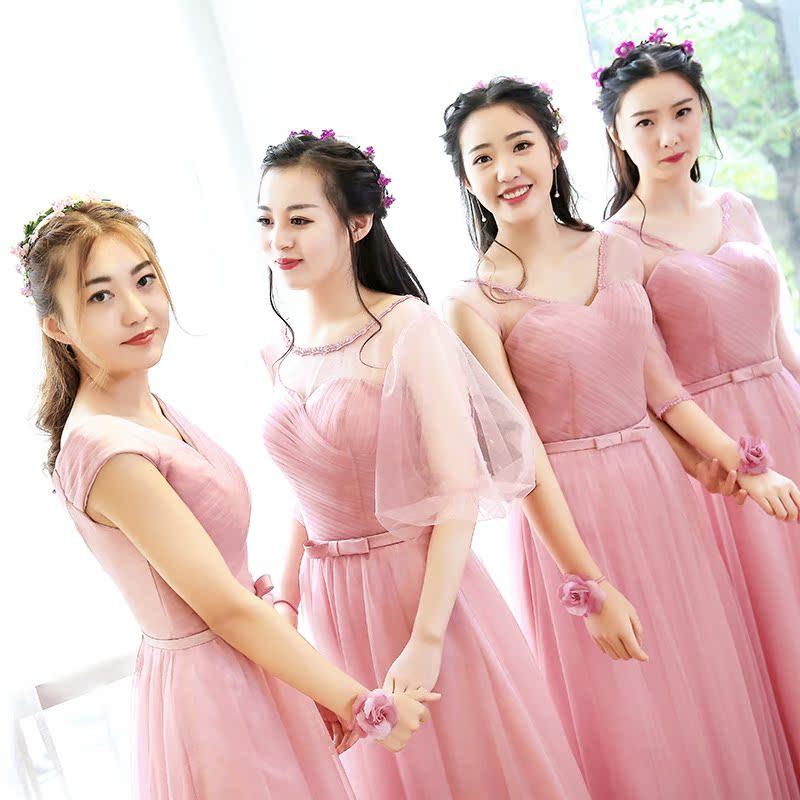 伴娘服 長款2016 伴娘禮服韓式伴娘團姐妹裙長款年會小禮服